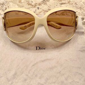 Christian DIOR cream sunglasses